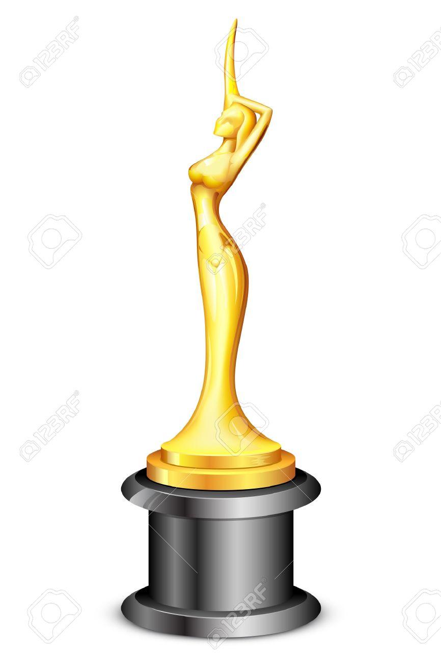 Academy award statue clipart.