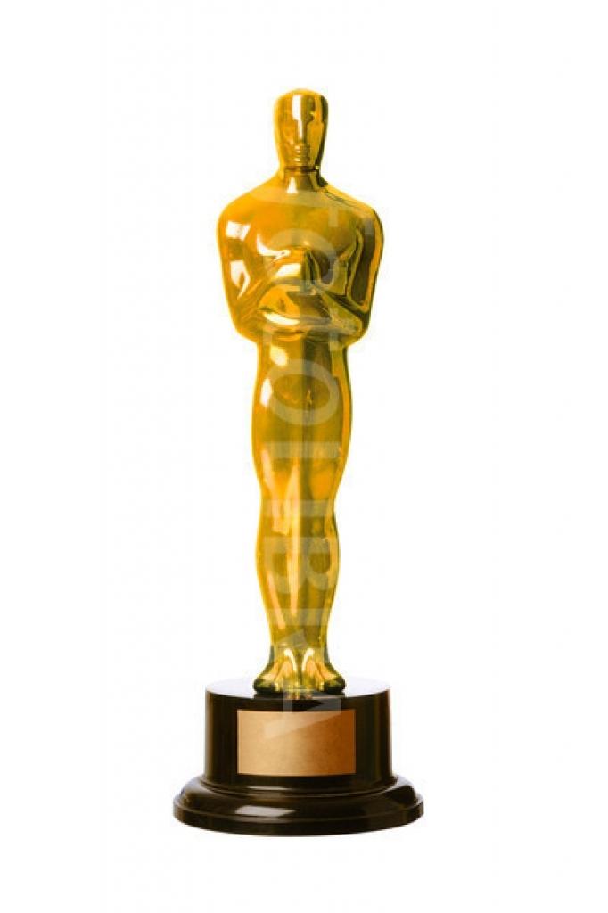 Oscar Award Statue Clipart.