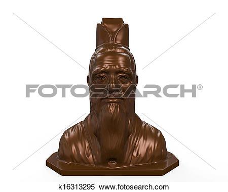 Stock Illustration of Bronze Statue of Confucius k16313295.