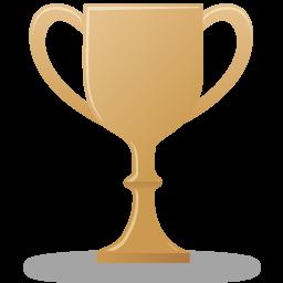 Bronze trophy icon.