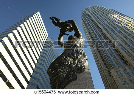 Stock Image of Charlotte, NC, North Carolina, Downtown, The Square.