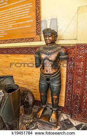 Stock Photo of Mahamuni Khmer bronze statues k19451784.