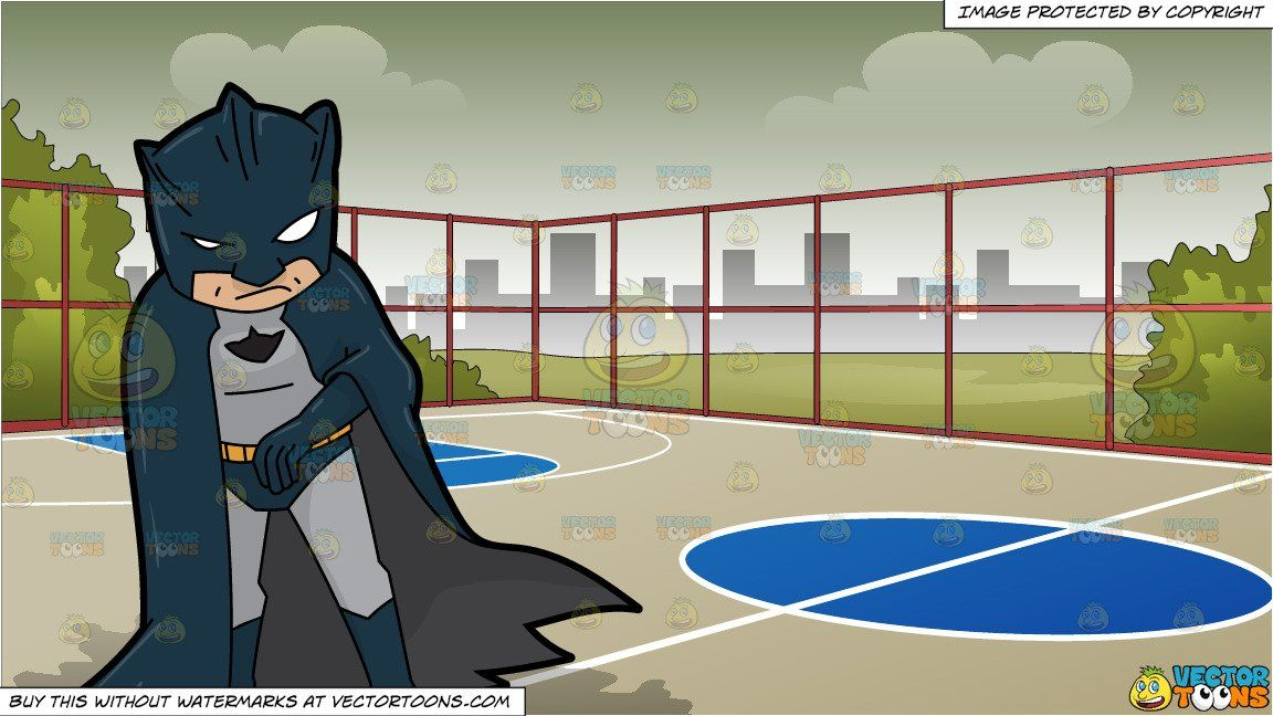 A Man Dressed In A Batman Super Hero Costume and Outdoor.