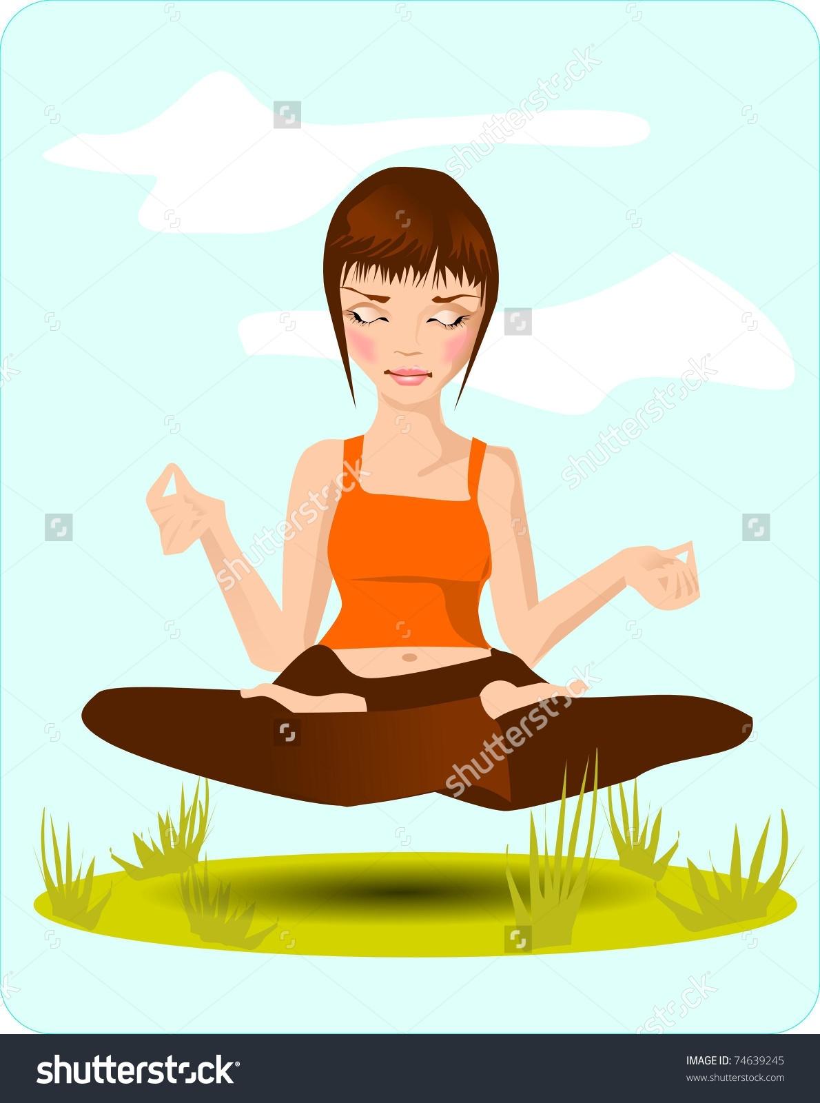 Meditation. Illustration Showing A Brooding Girl.