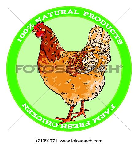 Clipart of Brown broody chicken k21091771.