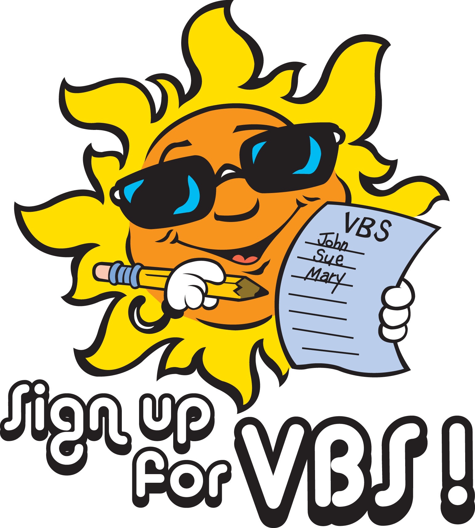 Vbs Sign Up Clipart.