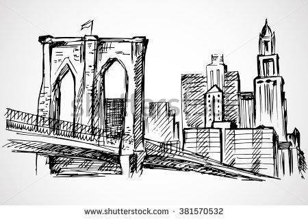 Brooklyn Bridge Vector Stock Photos, Royalty.
