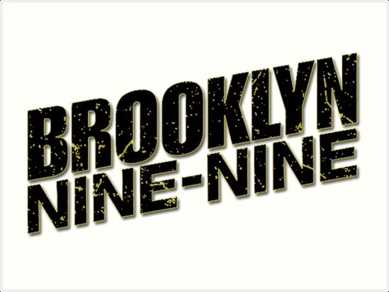 \'Brooklyn 99 Black Logo\' Art Print by Elliepearson.