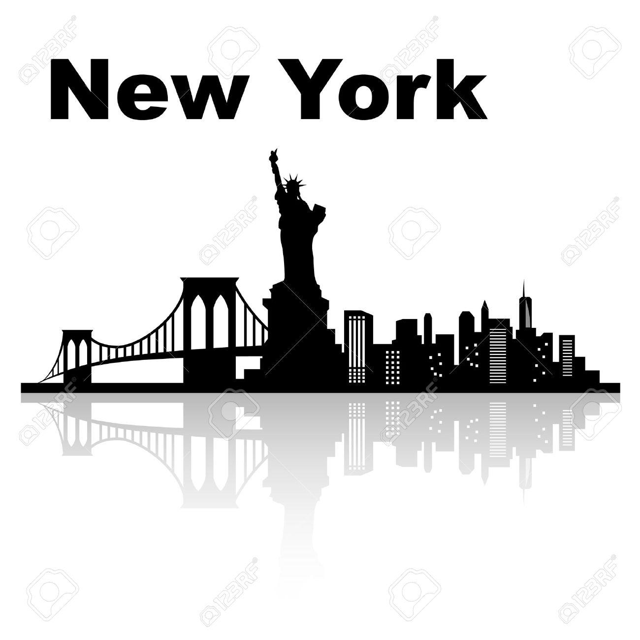 Silhouette of New York.