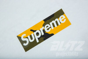 Details about SUPREME BROOKLYN BOX LOGO TEE YELLOW CAMO S M L XL FW17 2017  T.