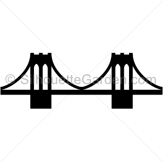 Brooklyn Bridge silhouette clip art. Download free versions of the.