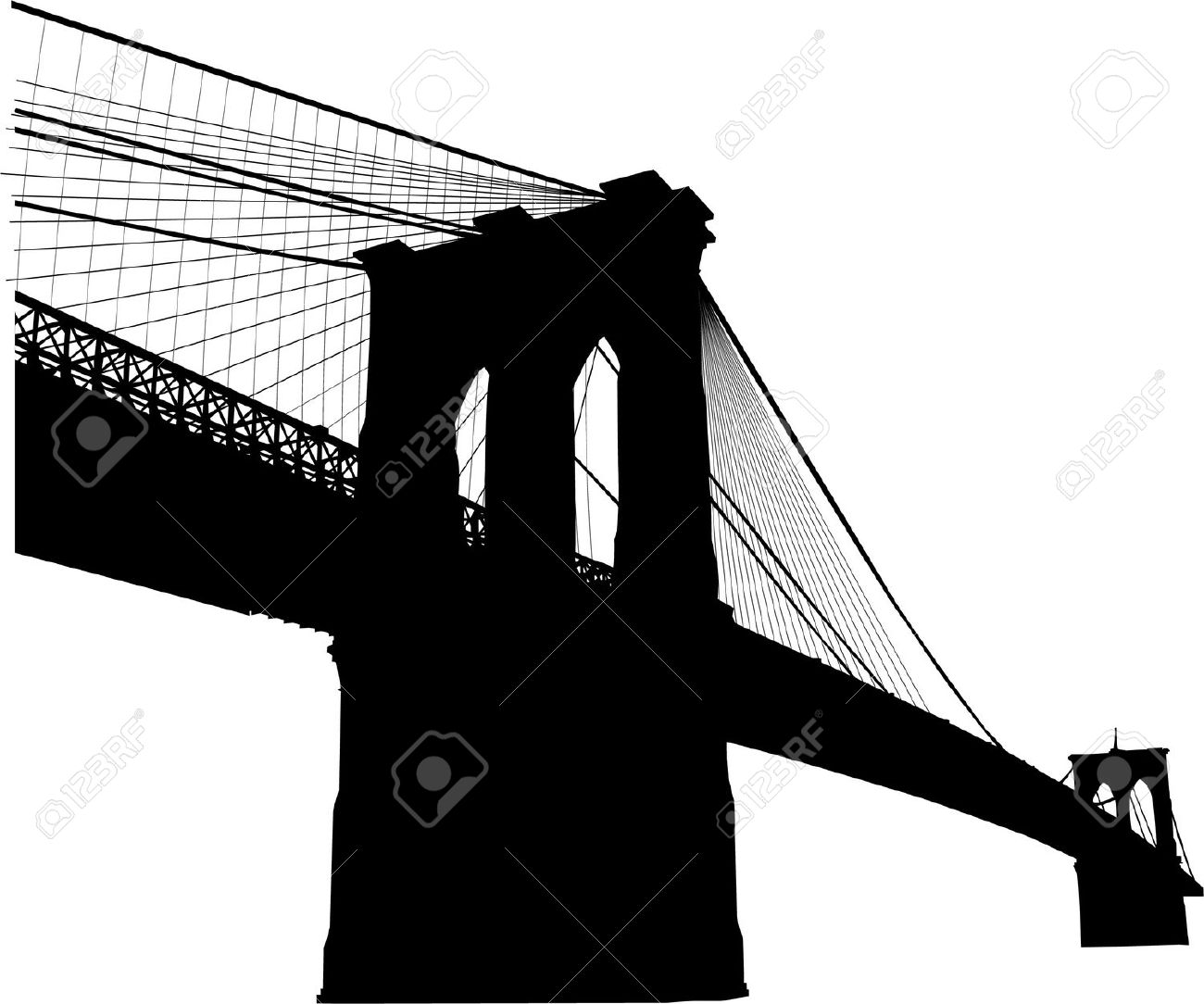 Manhattan bridge clipart #1