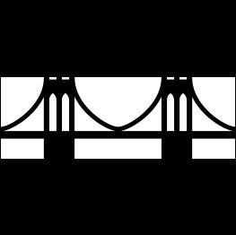 Brooklyn Bridge Silhouette Drawing.