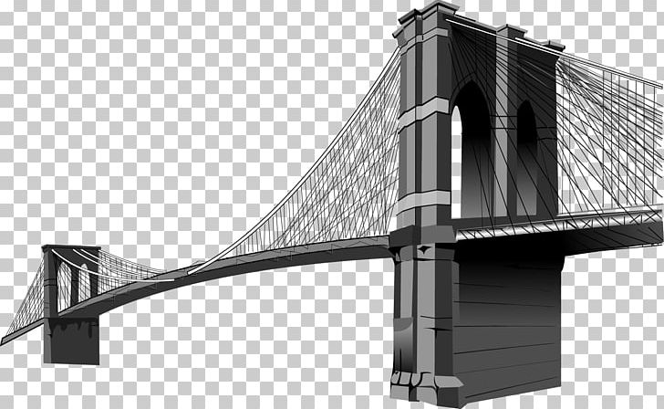 Brooklyn Bridge PNG, Clipart, Angle, Architecture, Black And.