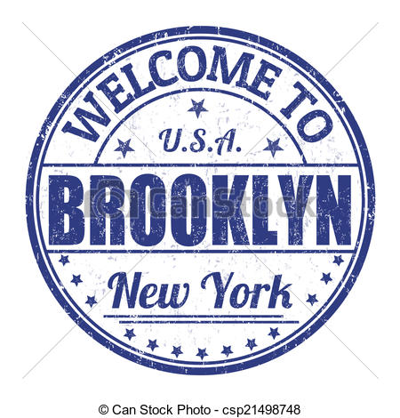 EPS Vector of Welcome to Brooklyn stamp.