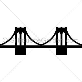 Brooklyn Bridge silhouette clip art. Download free versions of the.