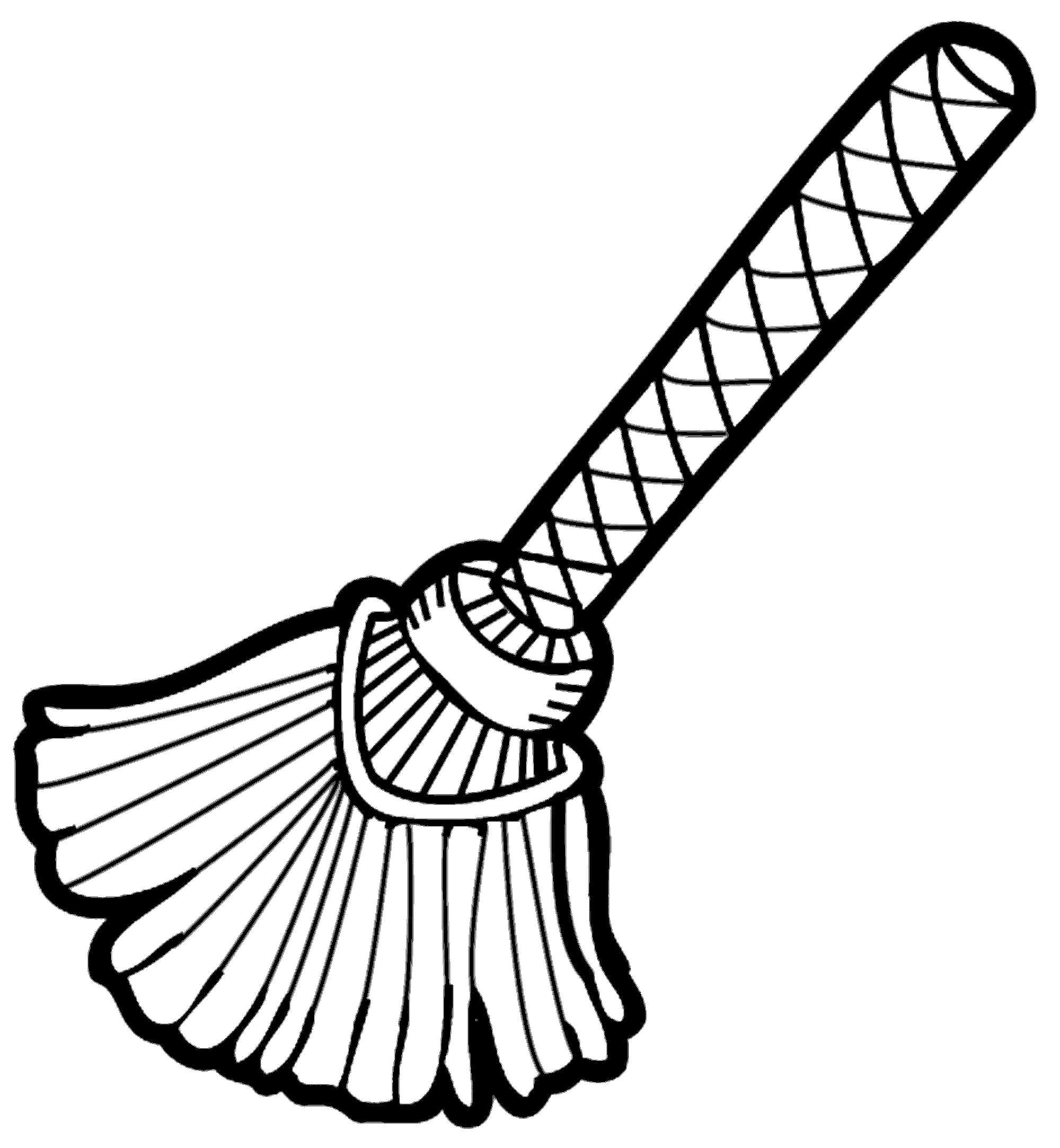 Broom black and white clipart 6 » Clipart Station.