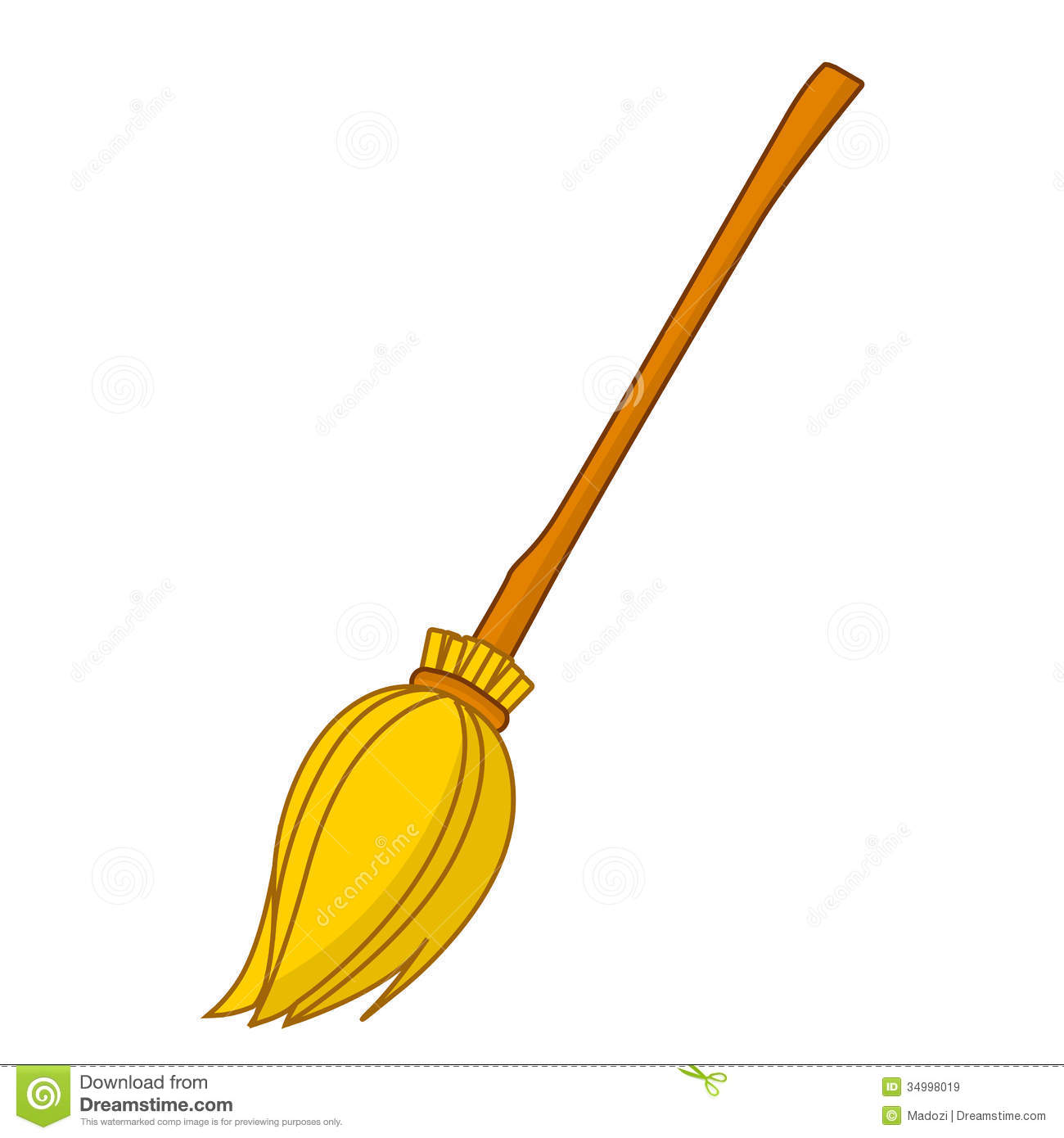 Witch Broom Clipart.