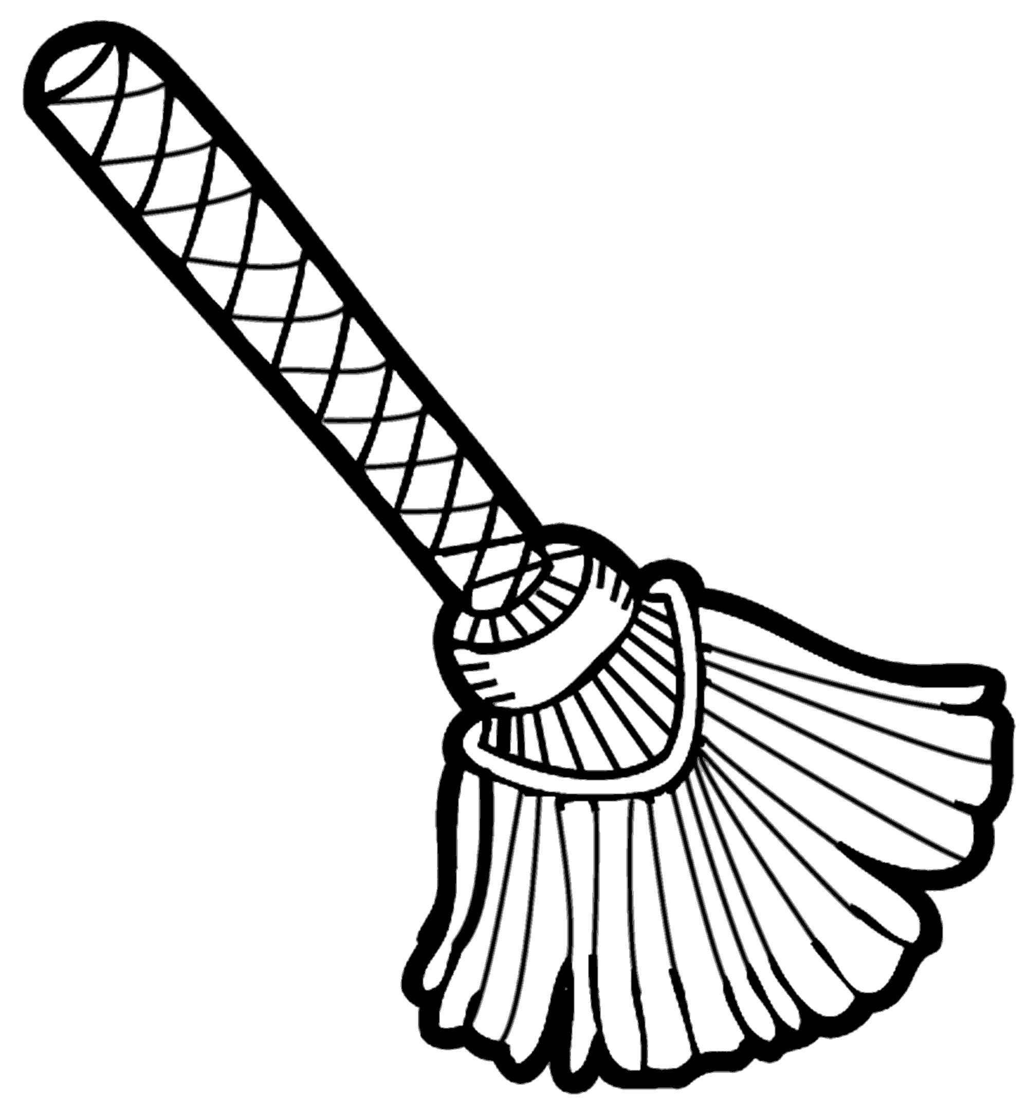 Broom Clipart Black And White.