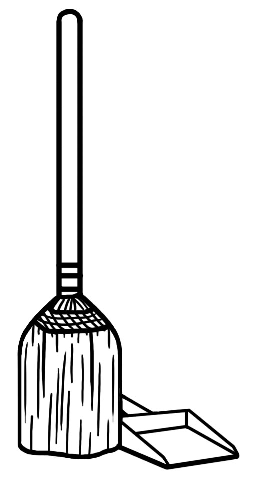 Sweeping Broom Clipart.