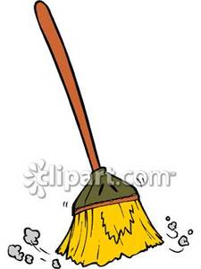 Sweeping Broom Clipart.