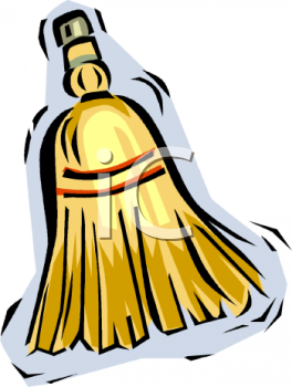 Royalty Free Clip Art Image: Little Whisk Broom for Sweeping.
