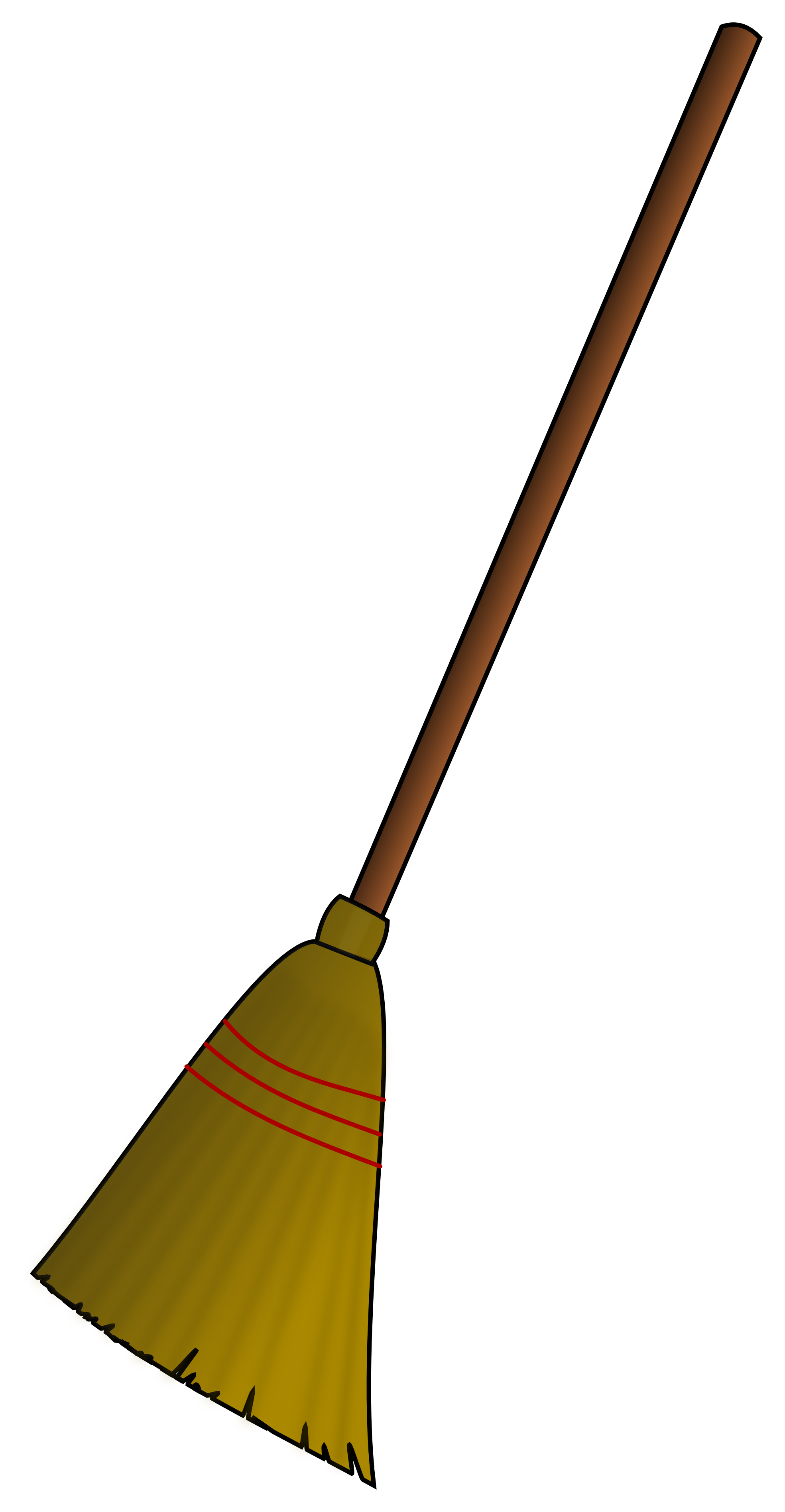 Witch On A Broomstick Clipart.