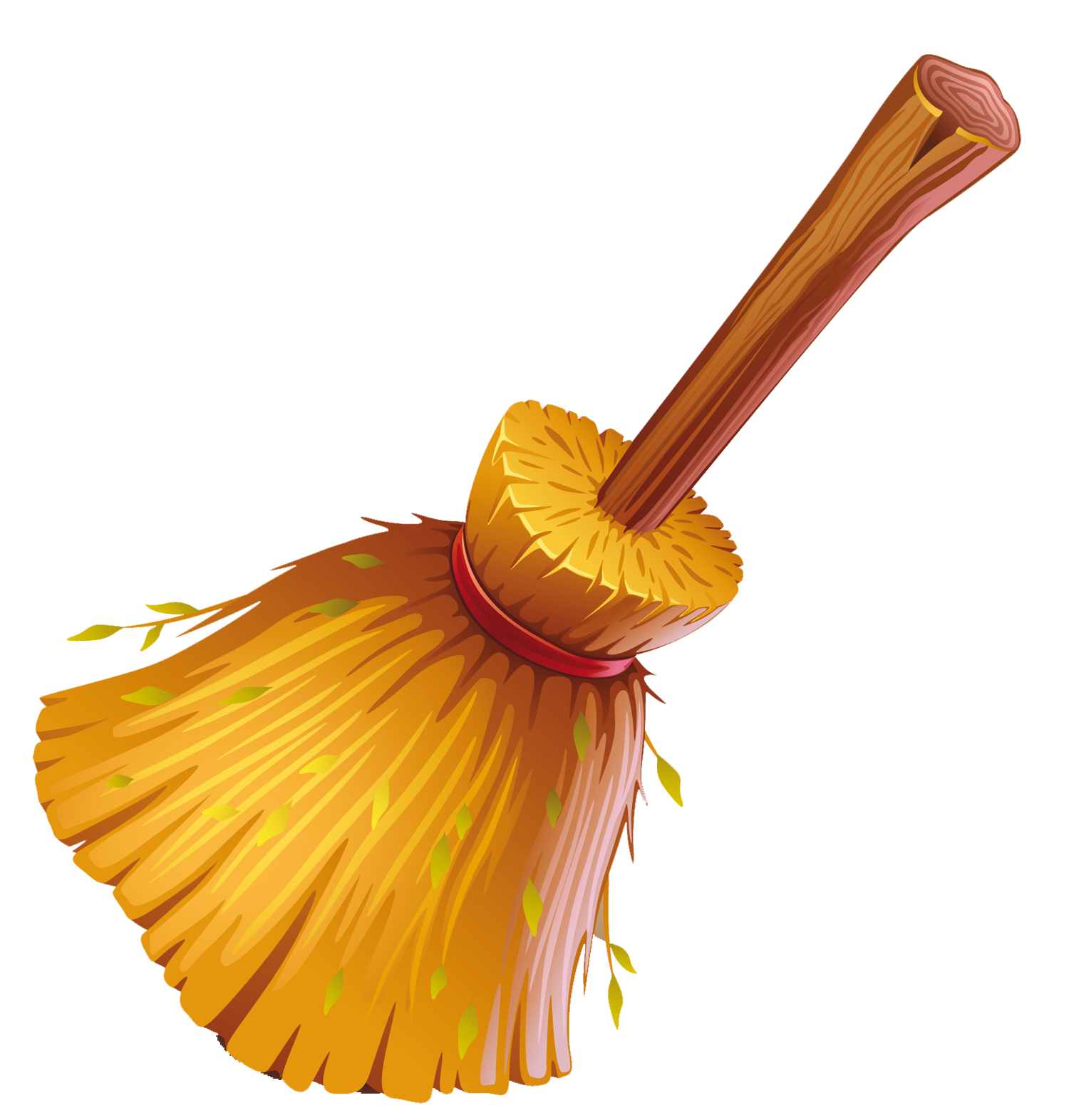 Witch on broomstick clipart.