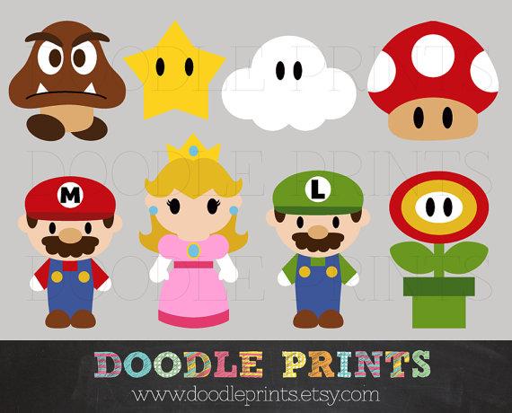 Mario brothers clip art.