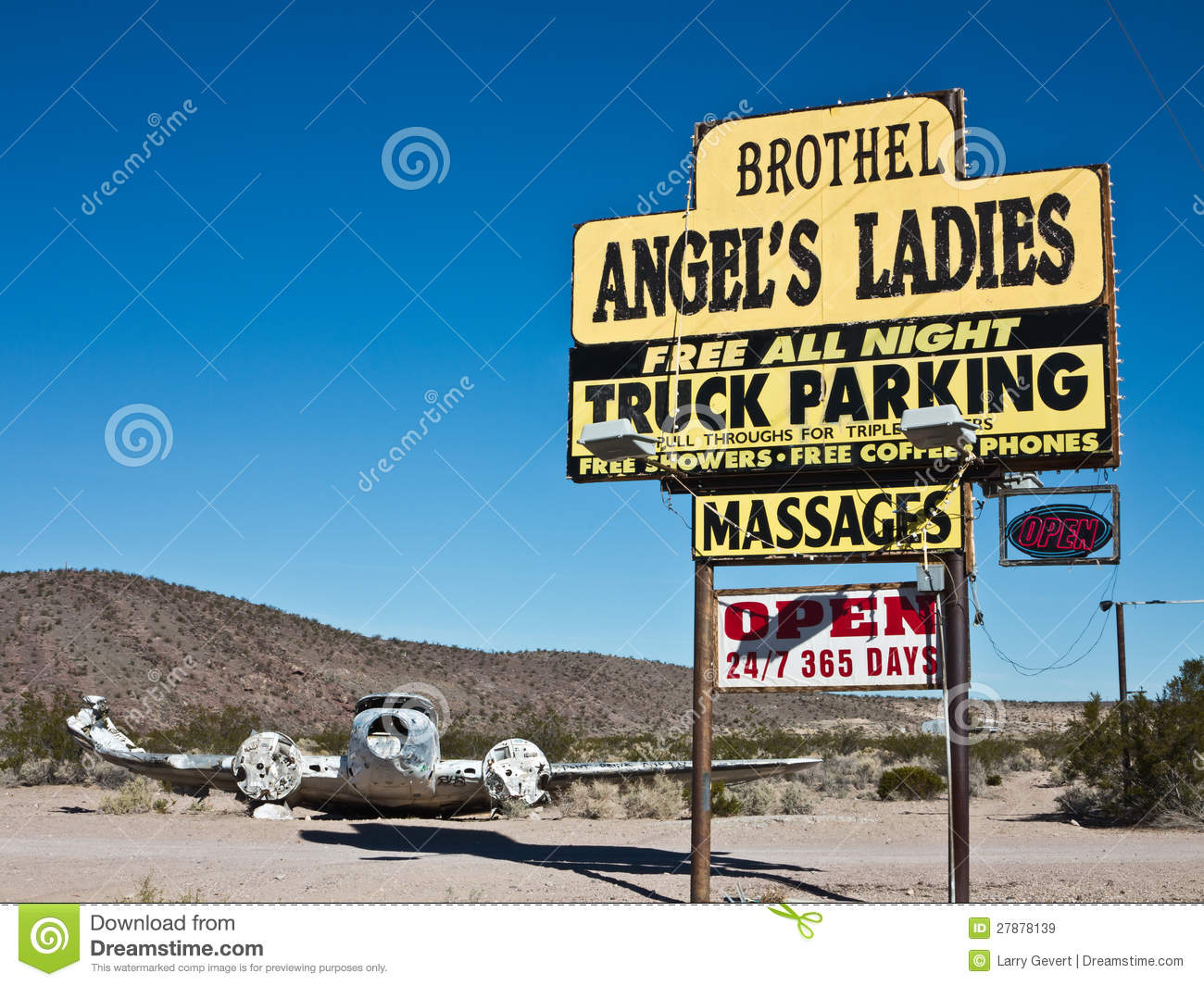 Landmark Nevada Brothel Editorial Stock Image.