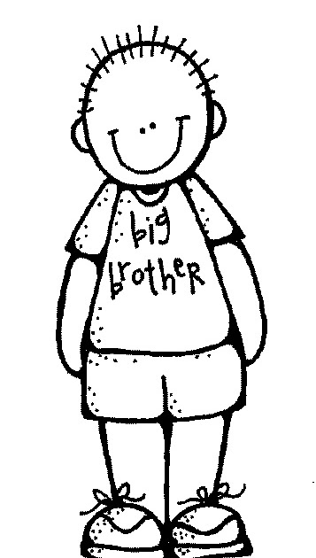 Brother clipart black and white » Clipart Station.