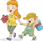 Brother sister Clipart Royalty Free. 4,091 brother sister clip art.