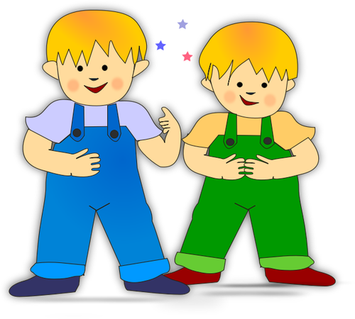 Twin Brothers Clipart.