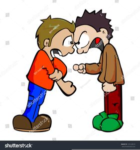 Brothers Fighting Clipart.