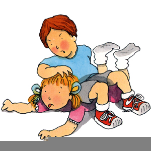 Brother And Sister Fighting Clipart.