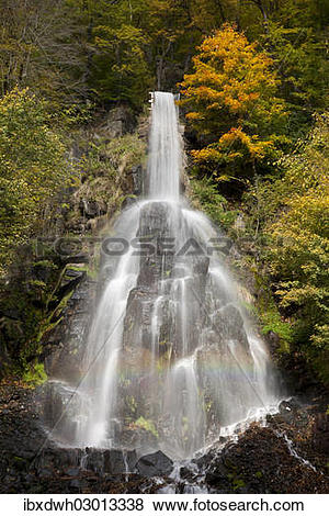 "Pictures of ""Waterfall in an autumnal landscape in Trusetal."