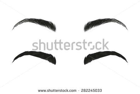 Clipart of eye brow.