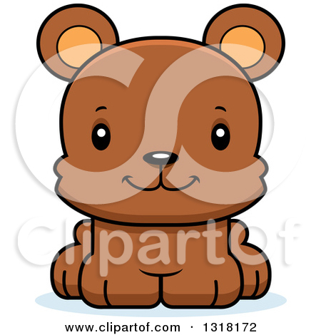 Clipart Happy Buff Bear Smiling.