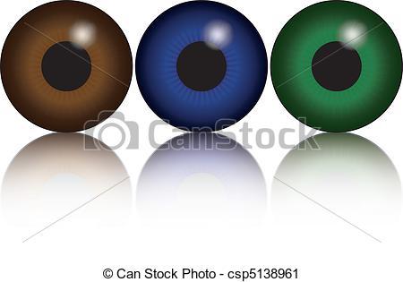 Vector Clip Art of eyes.