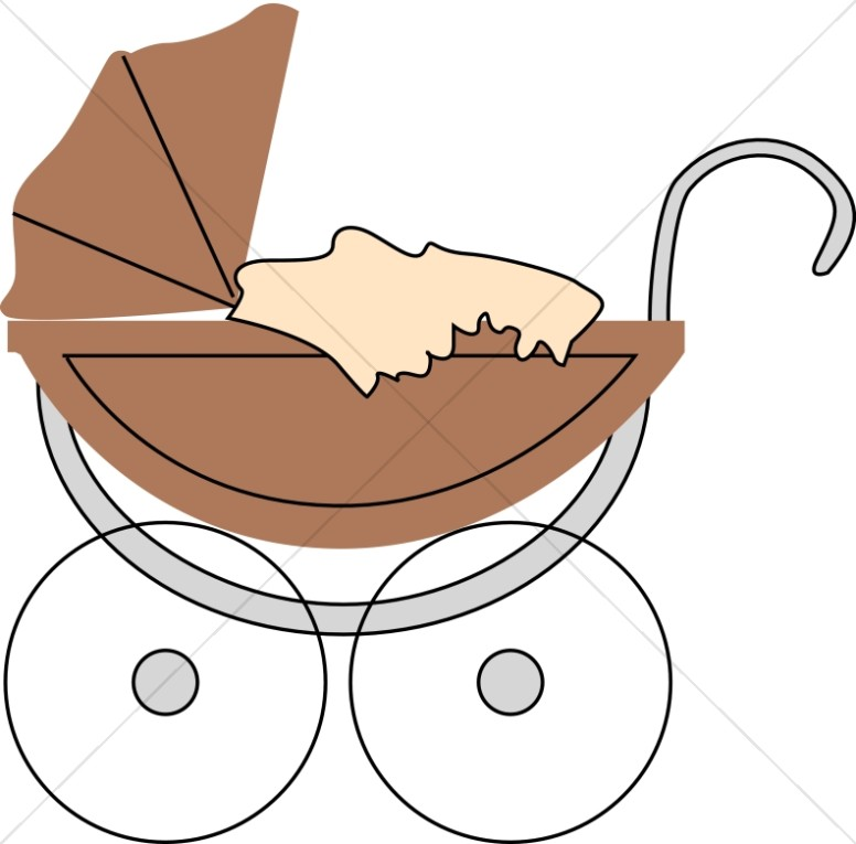 Brown Baby Buggy.
