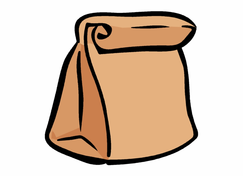 Lunch Box Clipart Sack Pencil And In Color Png.