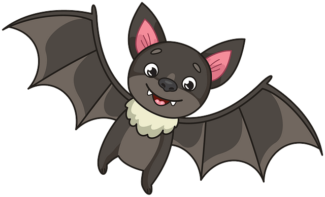 Little brown bat clipart. Free download..