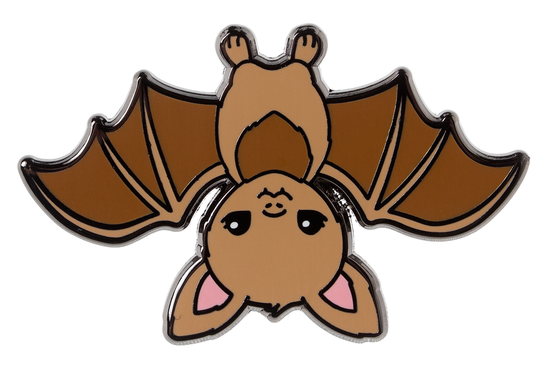 LUXCUPS CREATIVE BROWN BAT ENAMEL PIN.
