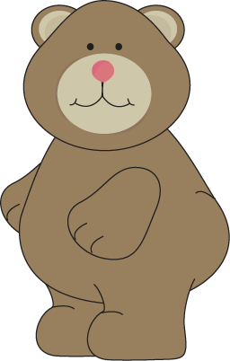 Cute Brown Bear Clip Art.