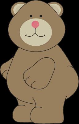 Cute Brown Bear Clip Art.