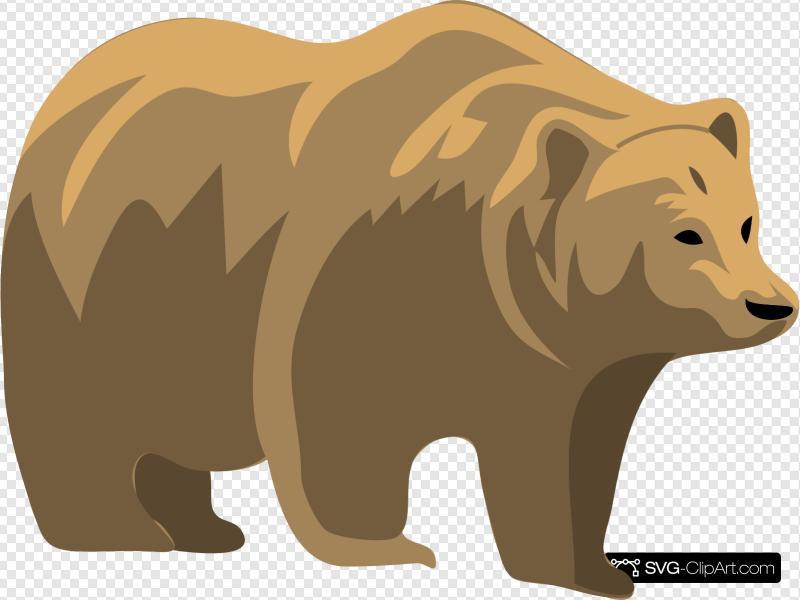 Brown Bear Clip art, Icon and SVG.