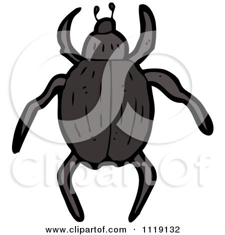 Clipart of a Cartoon Beetle.