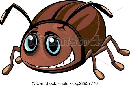 Vectors Illustration of Funny beetle.