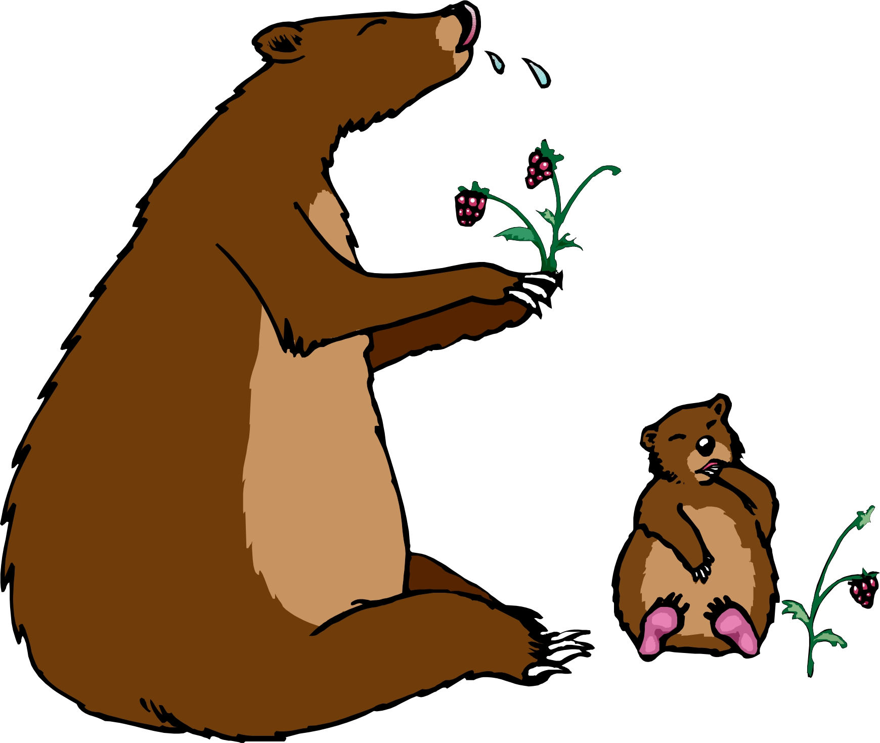 Brown Cartoon Clipart.