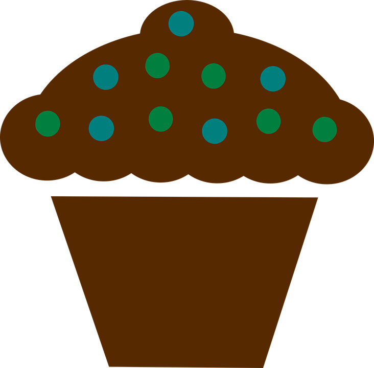 Free vector graphic: Cupcake, Berries, Brown, Sign, Food.